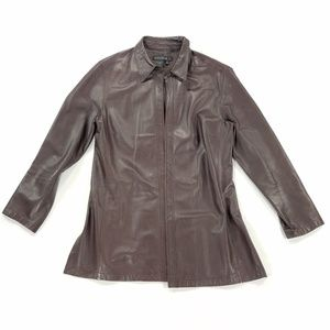 Lafayette 148 100% Leather Jacket Blazer Coat
